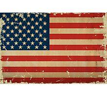 US Flag VINTAGE Photographic Print