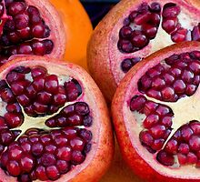 pomegranites and rinds by David Chesluk
