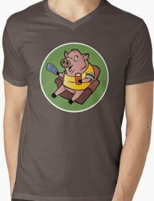 The Sports Pig Mens V-Neck T-Shirt