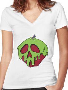 Poisoned Apple Women's Fitted V-Neck T-Shirt
