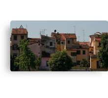 Rooftop Medley, Florence Canvas Print