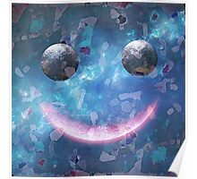 Smiley Face With Confetti. VividScene Poster