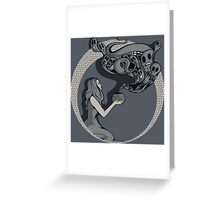 Opening The Box Greeting Card