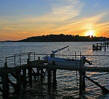 Sunset over Brownsea by RedHillDigital