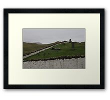Old graveyard Framed Print