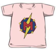 My Cute Little Super Hero - Letter M Kids Tee
