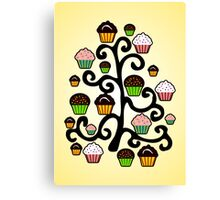 Cupcake Tree Canvas Print