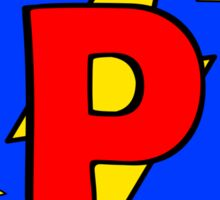My Cute Little Super Hero - Letter P Sticker