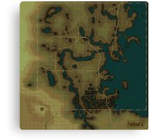 Fallout 4 Blank Map Canvas Print