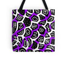 Purple playful pattern Tote Bag