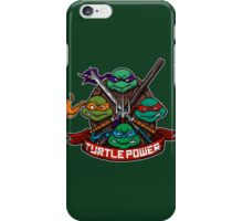 Turtle Power! iPhone Case/Skin