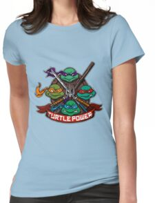 Turtle Power! Womens Fitted T-Shirt