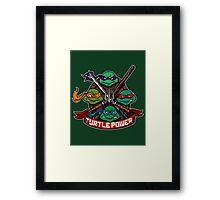 Turtle Power! Framed Print
