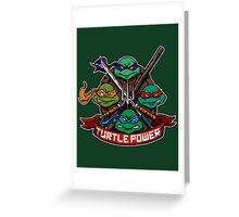 Turtle Power! Greeting Card