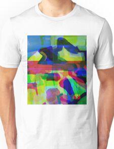 Blue Howl Glitch. Unisex T-Shirt
