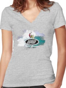 surf 7 Women's Fitted V-Neck T-Shirt