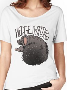 cute hedgehug smiling Women's Relaxed Fit T-Shirt
