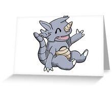 Cute Rhydon Greeting Card