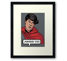 Wiccan is judging you Framed Print