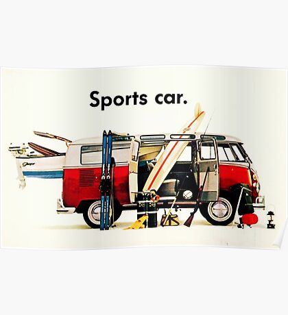 VW kombi sports car  Poster