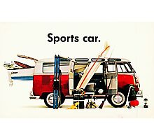 VW kombi sports car  Photographic Print
