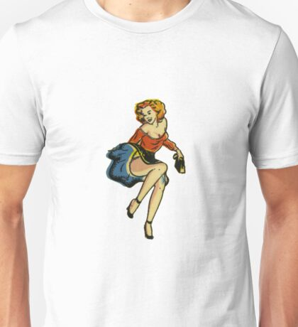 1950's Pinup Stickers Unisex T-Shirt