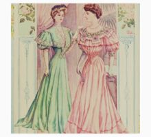 Victorian ladies,reproduction,vintage,shabby,chic,rustic,gruge,worn,old fashioned One Piece - Short Sleeve