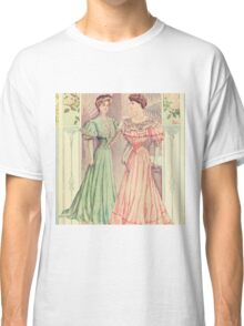 Victorian ladies,reproduction,vintage,shabby,chic,rustic,gruge,worn,old fashioned Classic T-Shirt