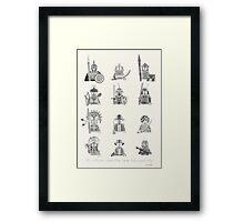 All Warriors Framed Print