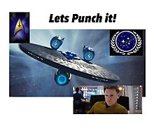 Star Trek:lets punch it  Photographic Print