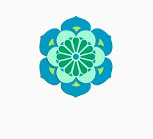 Lotus Mandala, Lime Green and Blue  Womens Fitted T-Shirt