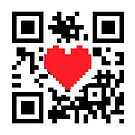 QR Code Heart Love Message  Prints / T-Shirt / iPhone Case / Pillow / Tote Bag /Duvet  / iPad Case / Mug by CroDesign