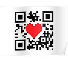 QR Code Heart Love Message  Prints / T-Shirt / iPhone Case / Pillow / Tote Bag /Duvet  / iPad Case / Mug Poster