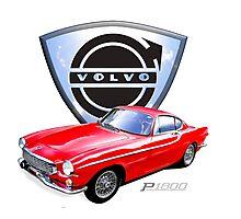Volvo p1800 vintage sports car Sweden Photographic Print