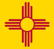 State flag of New Mexico - Authentic HQ version Sticker