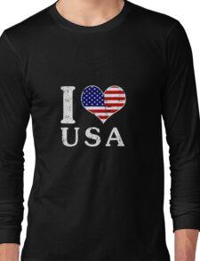 I LOVE USA (white) Long Sleeve T-Shirt