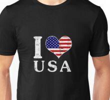 I LOVE USA (white) Unisex T-Shirt