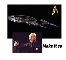 Star Trek: make it so  Photographic Print