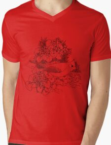 The Reddest of Red.  Color Project.   Mens V-Neck T-Shirt