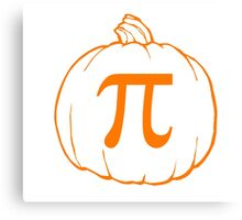 Pumpkin Pi (pie) Mathematics Humour Canvas Print
