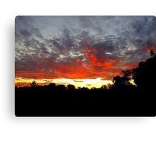 The End Of A Beautiful Day Canvas Print