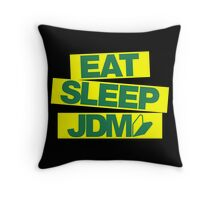 Eat Sleep JDM wakaba (7) Throw Pillow