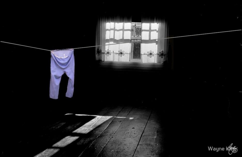 White Light on Blue Pants by Wayne King