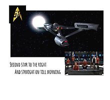 Star Trek: second star to the right  Photographic Print