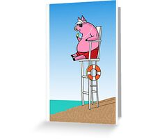 Pig On Duty Greeting Card