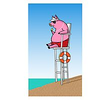 Pig On Duty Photographic Print