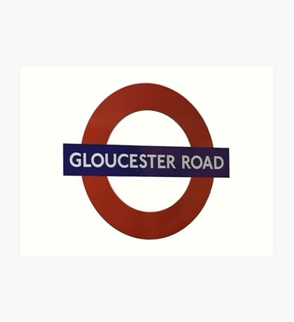 Gloucester Road British Sign Art Print
