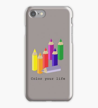 Color your life iPhone Case/Skin