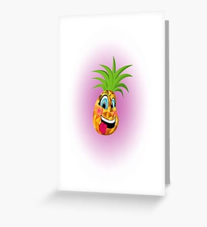 New School Pineapple Greeting Card