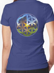 SEED_OF_GAIA_11 Women's Fitted V-Neck T-Shirt